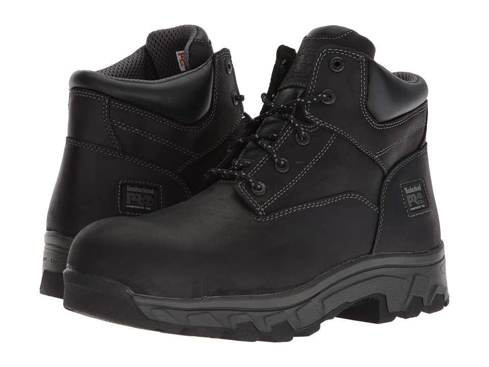 Timberland PRO - Workstead 6 Composite Safety Toe SD (Black Full-Grain Leather) Mens Work Lace-up Boots