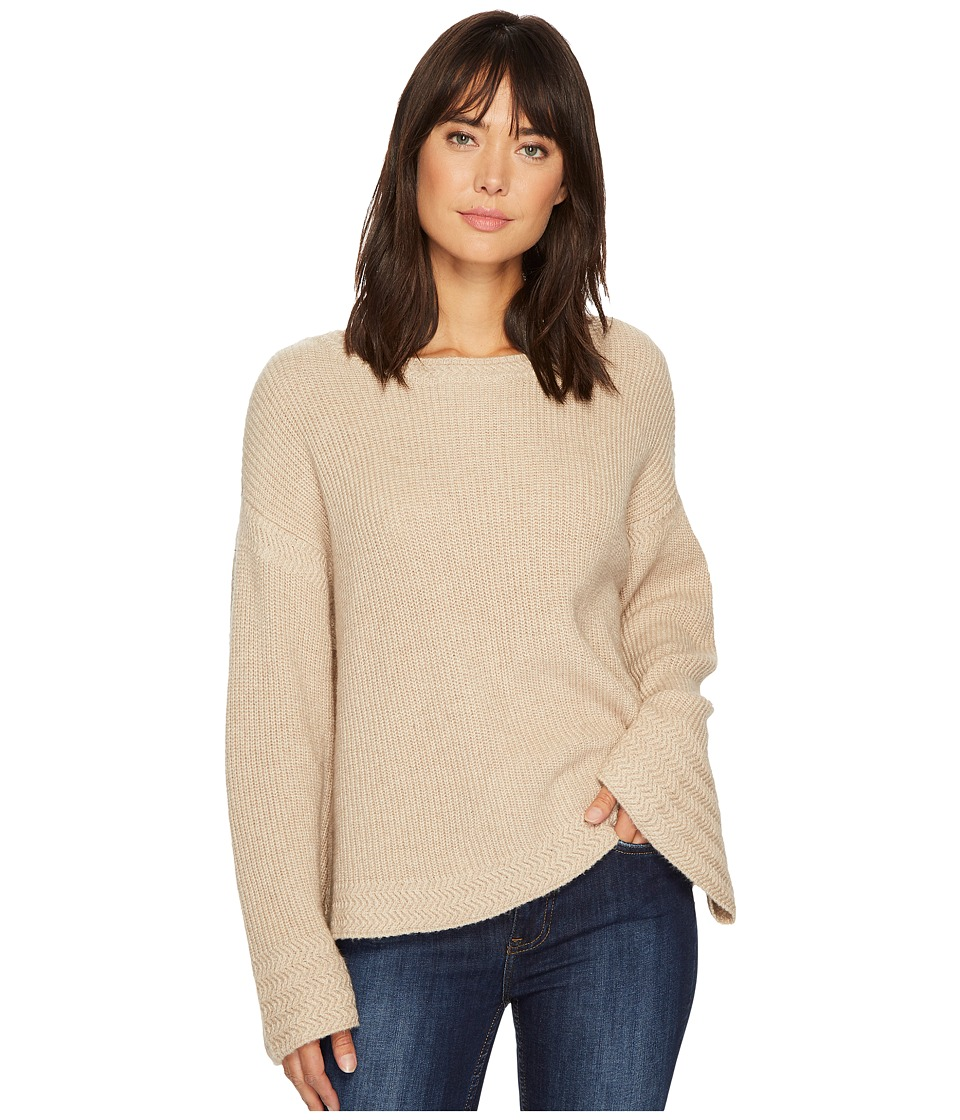 Image of 1.STATE - Bell Sleeve Sweater w/ Stitch Detail (Oatmeal Heather) Women's Sweater
