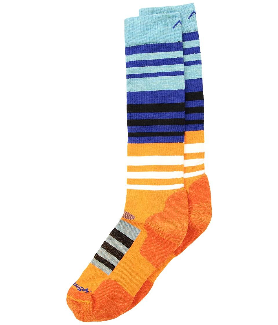 Darn Tough Vermont - Hojo Cushion Socks (Toddler/Little Kid/Big Kid) (Orange) Crew Cut Socks Shoes