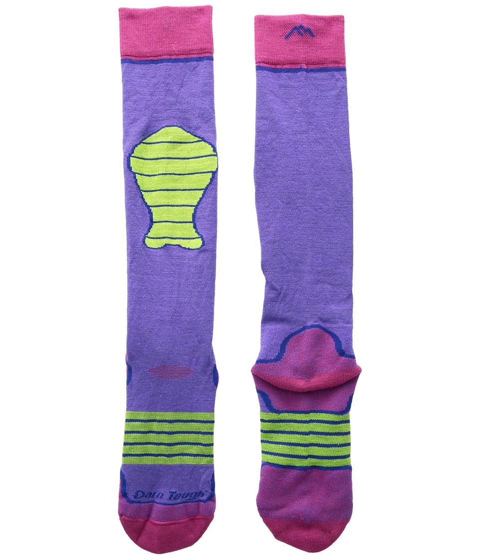 Darn Tough Vermont Padded Over the Calf Cushion Socks (Toddler/Little Kid/Big Kid) (Purple) Crew Cut Socks Shoes