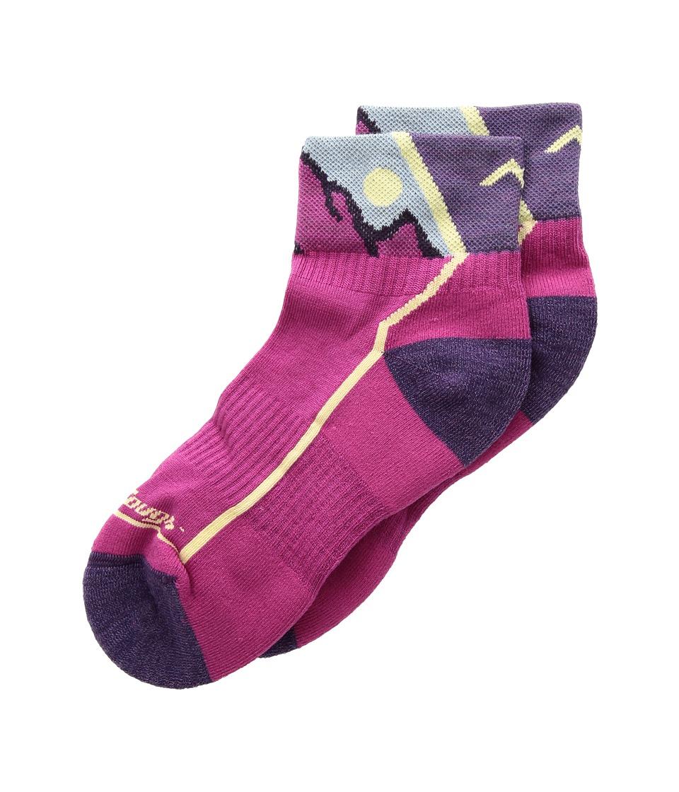 Darn Tough Vermont Hiker 1/4 Cushion Socks (Toddler/Little Kid/Big Kid) (Pink) Quarter Length Socks Shoes