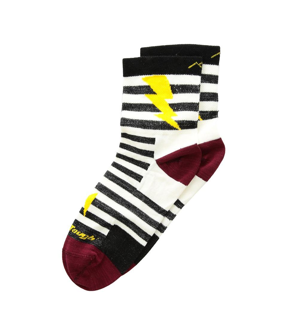 Darn Tough Vermont Lightning Micro Crew Light Socks (Toddler/Little Kid/Big Kid) (Black) Crew Cut Socks Shoes