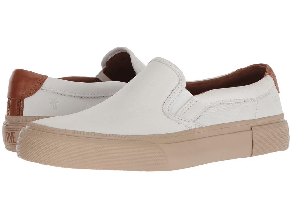 Frye - Ludlow Slip-On (White Sheep Leather) Mens Slip on  Shoes
