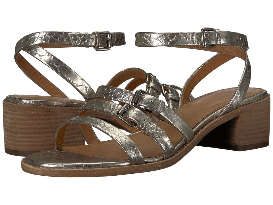 Frye Cindy Buckle Sandal (Silver) Sandals