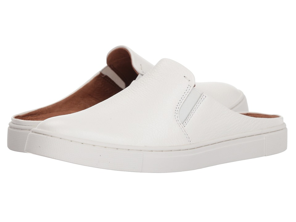 Frye Ivy Mule (White Pebbled Leather) Slip-On Shoes
