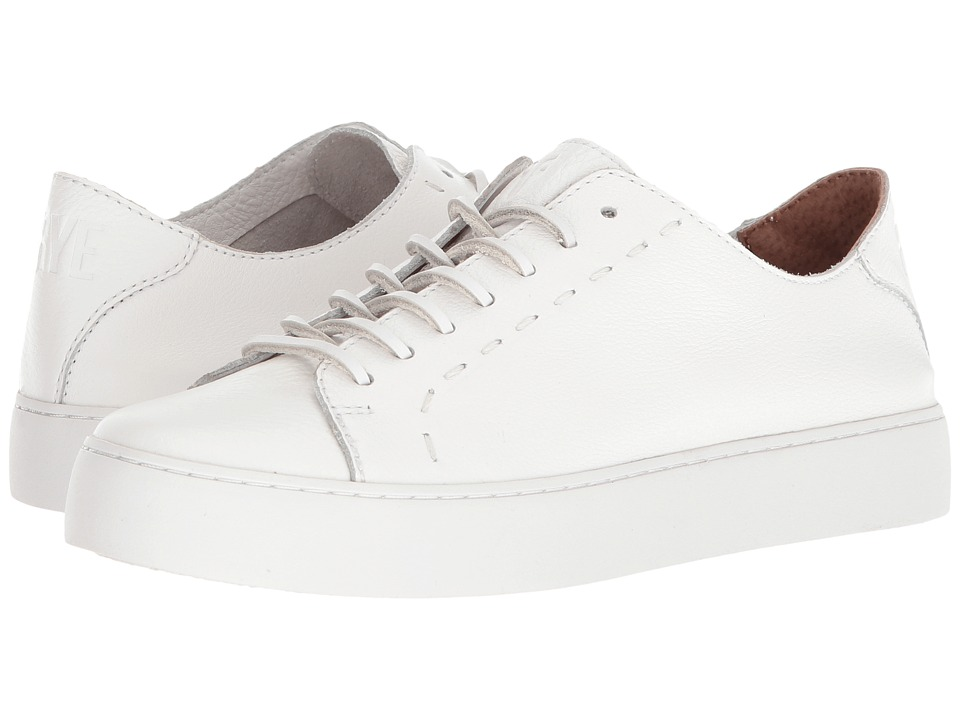 Frye Lena Low Lace (White) Slip-On Shoes