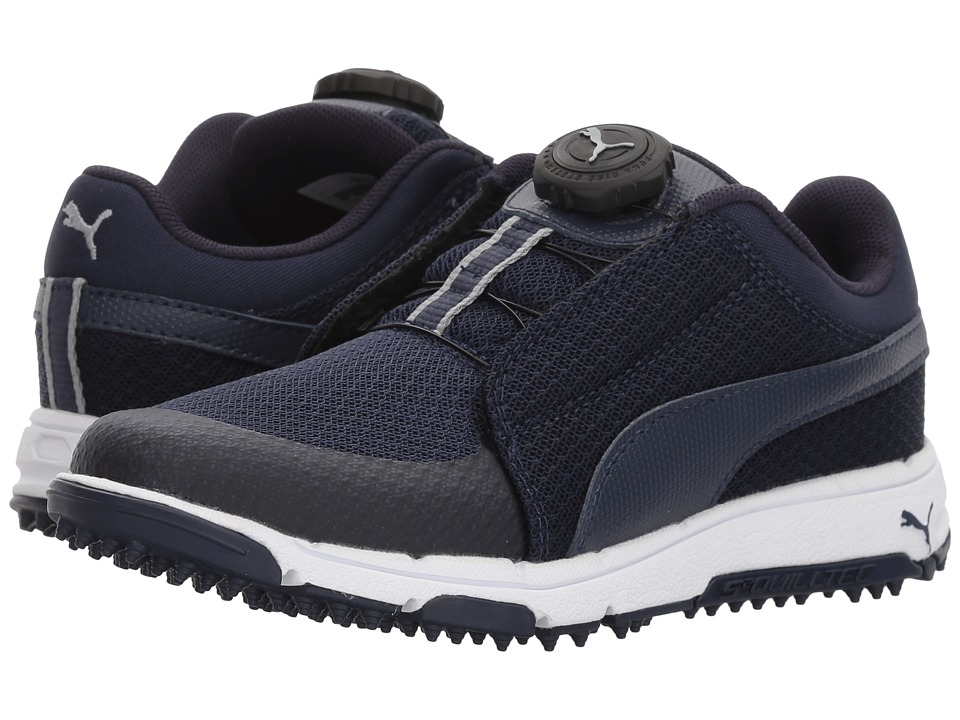 PUMA Golf Puma Grip Sport Jr Disc (Little Kid/Big Kid) (Peacoat/Peacoat/Quarry) Men