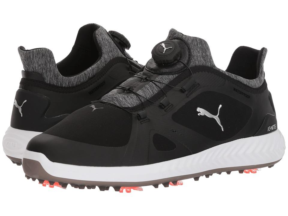 PUMA Golf - Ignite Power Adapt Disc (Puma Black/Puma Black) Mens Golf Shoes
