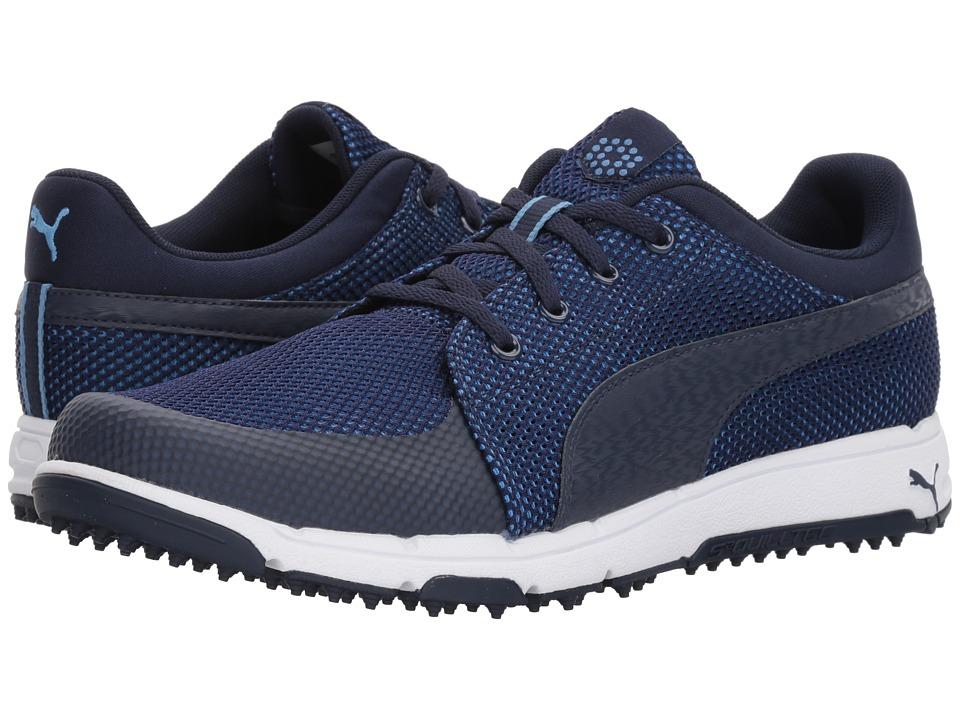 PUMA Golf - Grip Sport Tech (Peacoat/Peacoat/Marina) Mens Golf Shoes