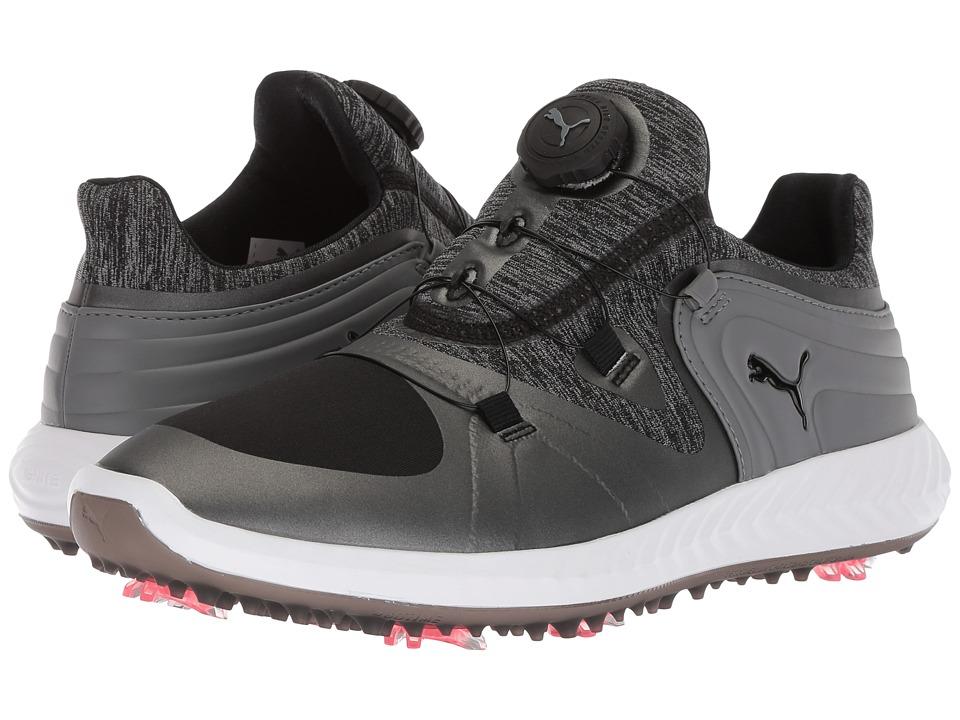 PUMA Golf Ignite Blaze Sport Disc (Puma Black/Steel Gray) Women's Golf Shoes