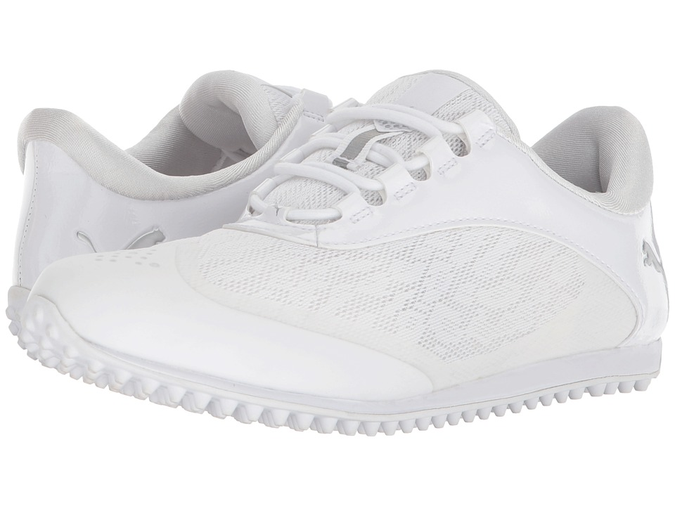 PUMA Golf Summercat Sport (White/Puma Silver/High-Rise) Women's Golf Shoes