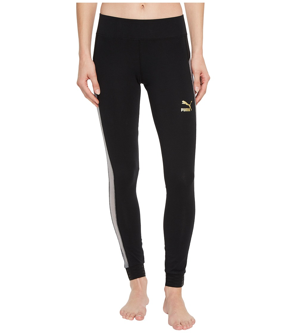 PUMA - Exposed T7 Leggings (PUMA Black) Womens Casual Pants