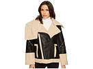 Blank NYC Bonded Jacket with Faux Fur Shearling in Oatmeal Raison