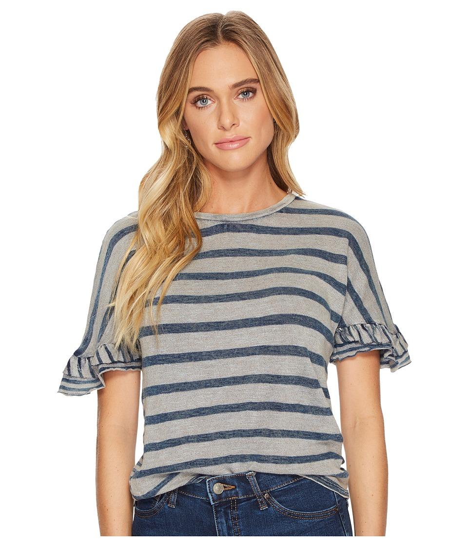 Lucky Brand Mix Stripe Tee (Indigo Stripe) Women