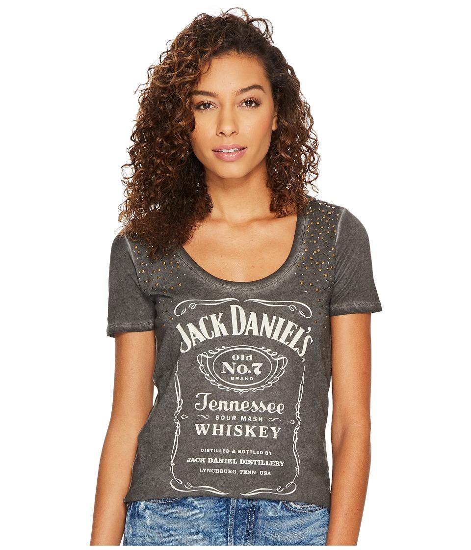 Lucky Brand Studded Jack Daniels Tee (Lucky Black) Women