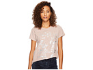 Lucky Brand Printed Lace Tee