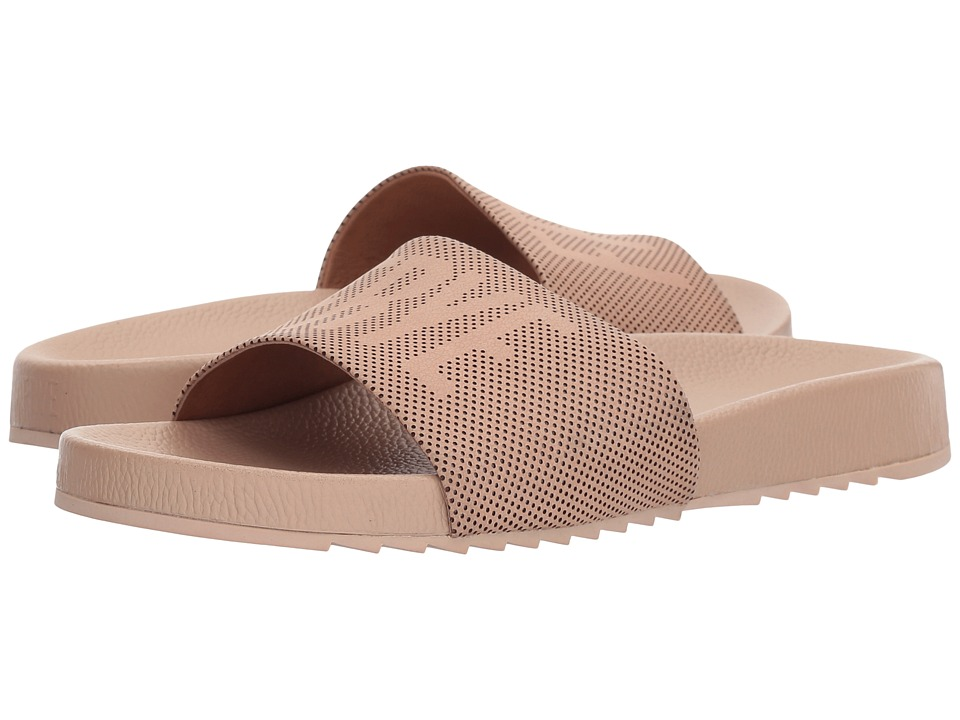 Frye Lola Perf Logo Slide (Blush) Sandals