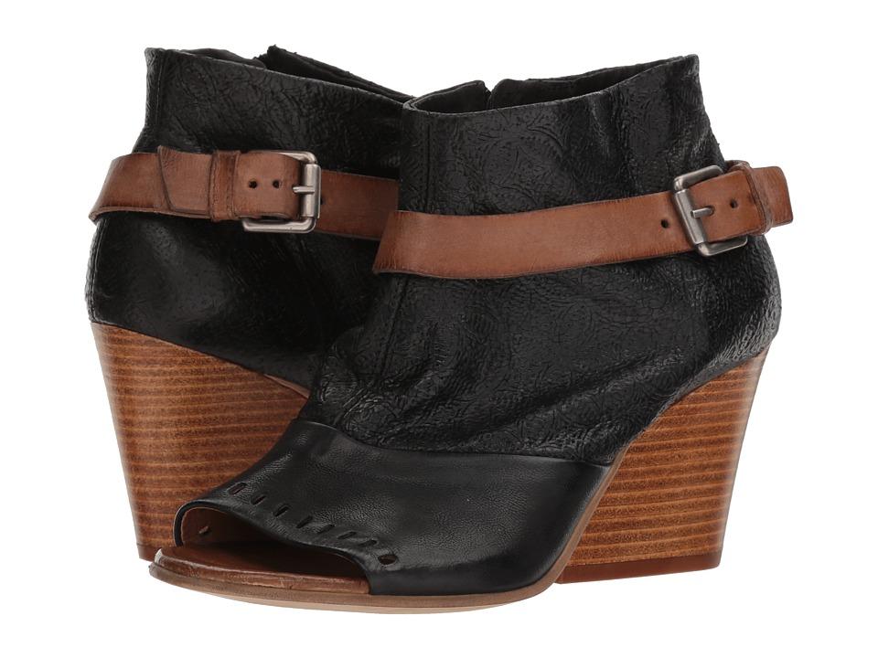 Miz Mooz Kahlo (Black) Women's Toe Open Shoes