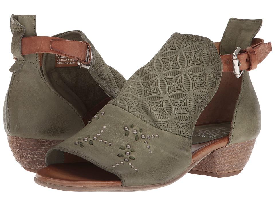 Miz Mooz Carey (Olive) Women's Shoes