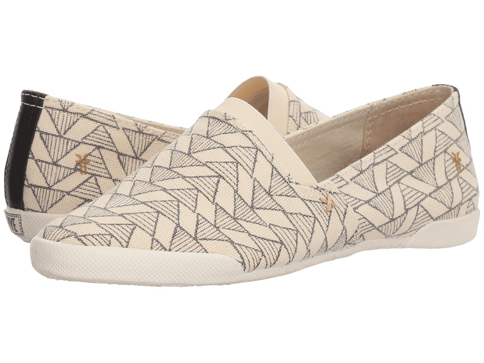 Frye Melanie Canvas Slip-On (Off-White Multi) Slip-On Shoes