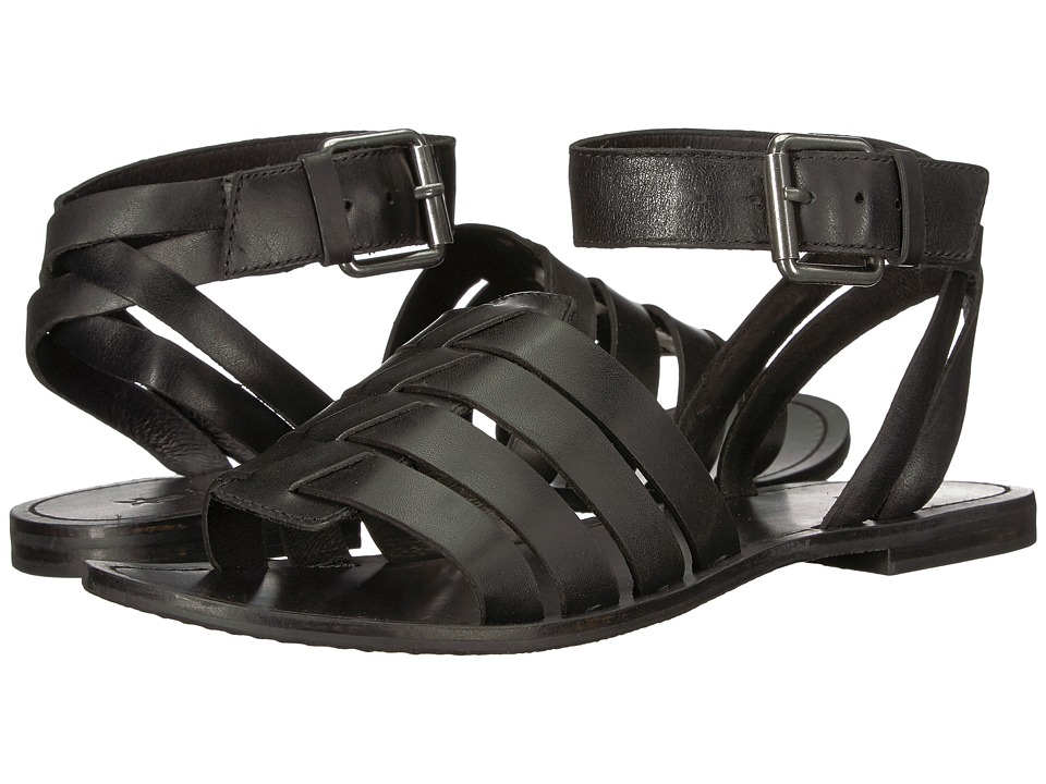 Frye Riley Huarache Two-Piece (Black) Sandals