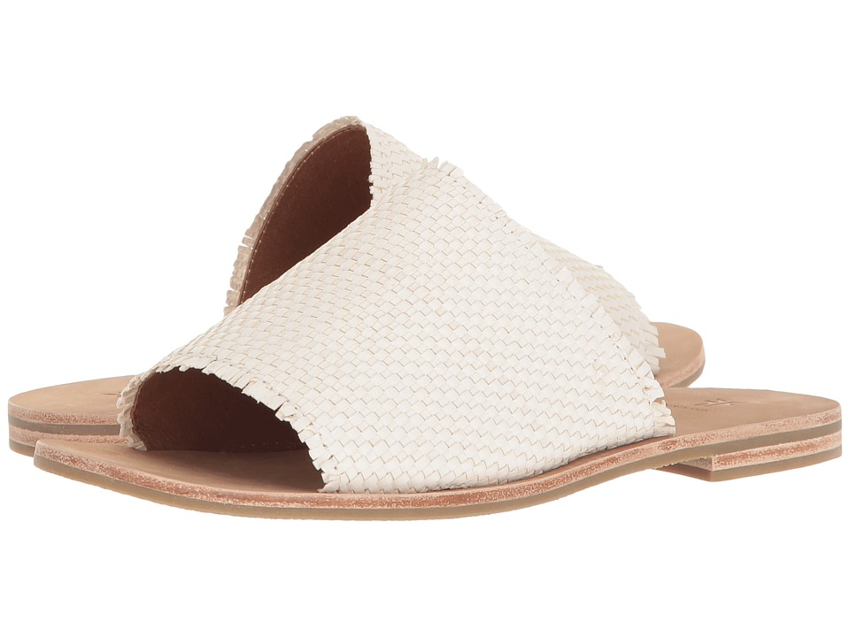 Frye Riley Woven Slide (White) Sandals