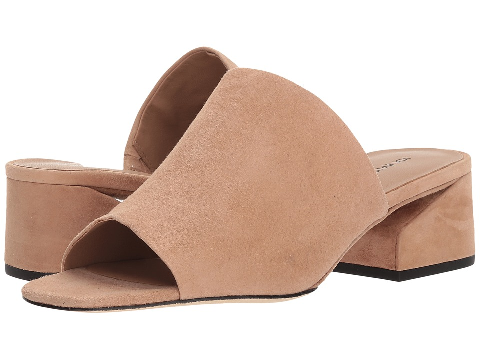 Via Spiga - Porter (Blush Suede) Womens Slide Shoes