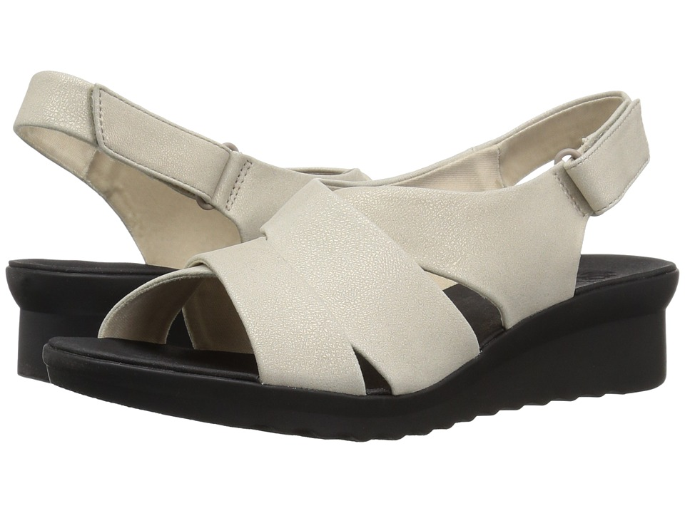 Clarks - Caddell Petal (Champagne Metallic) Womens Wedge Shoes