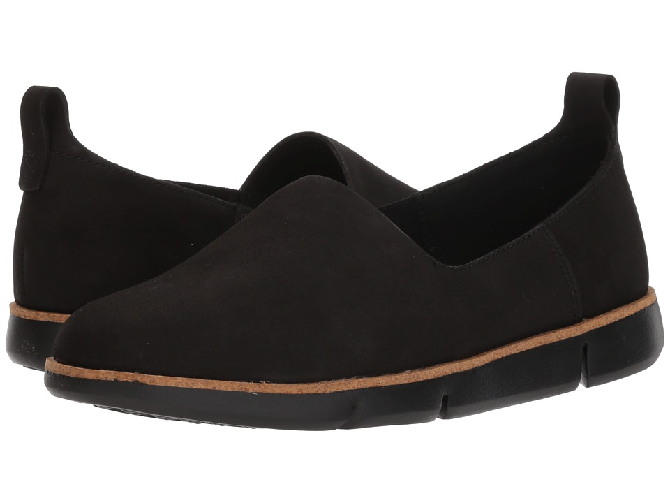 Clarks - Tri Curve (Black Nubuck) Womens Sandals