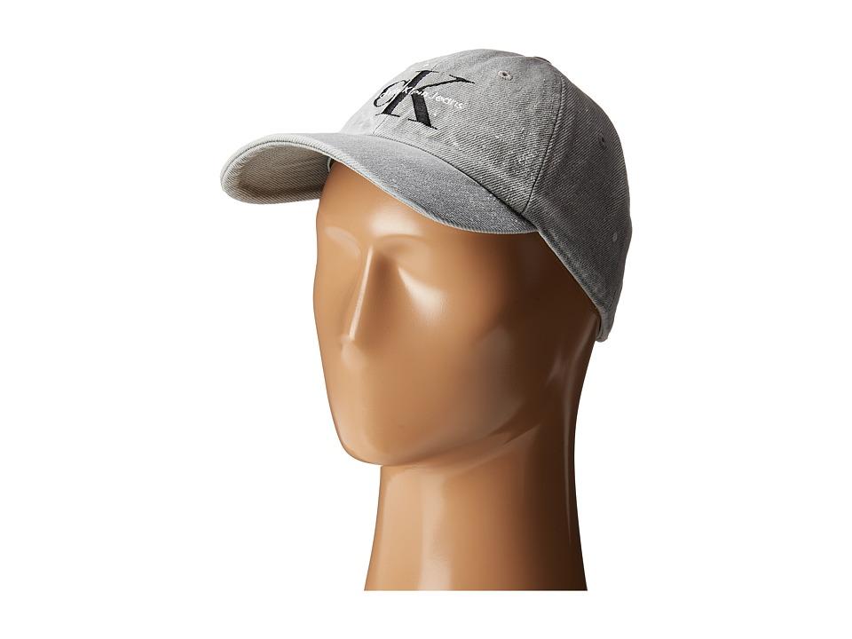 Calvin Klein Jeans Denim Splatter Hat (Grey) Caps