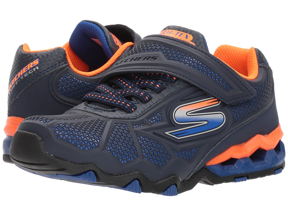 SKECHERS KIDS - Hydro - Static 97431L (Little Kid/Big Kid) (Navy/Orange) Boys Shoes