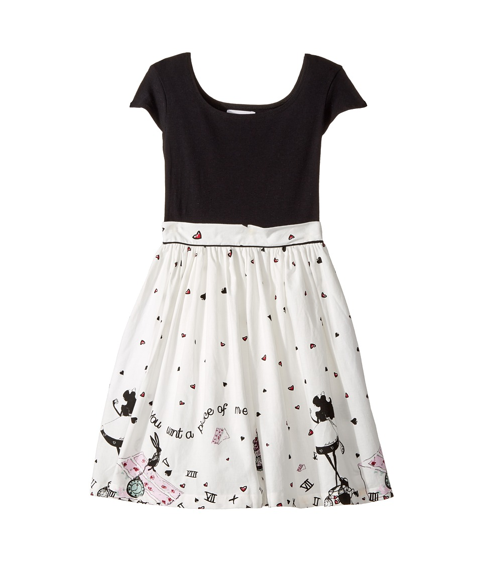 fiveloaves twofish - Alice Maddy Dress (Little Kids/Big Kids) (Black/Cream) Girls Dress