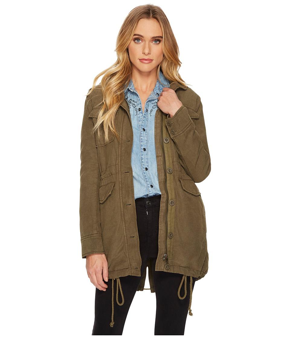 Lucky Brand Military Jacket (Dark Sage) Women's Coat