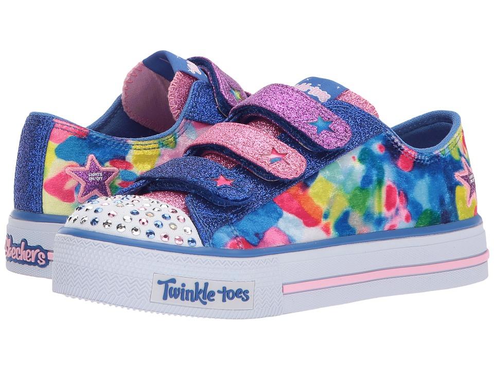 SKECHERS KIDS Twinkle Toes: Shuffles 10846L Lights (Little Kid/Big Kid) (Royal/Multi) Girl's Shoes