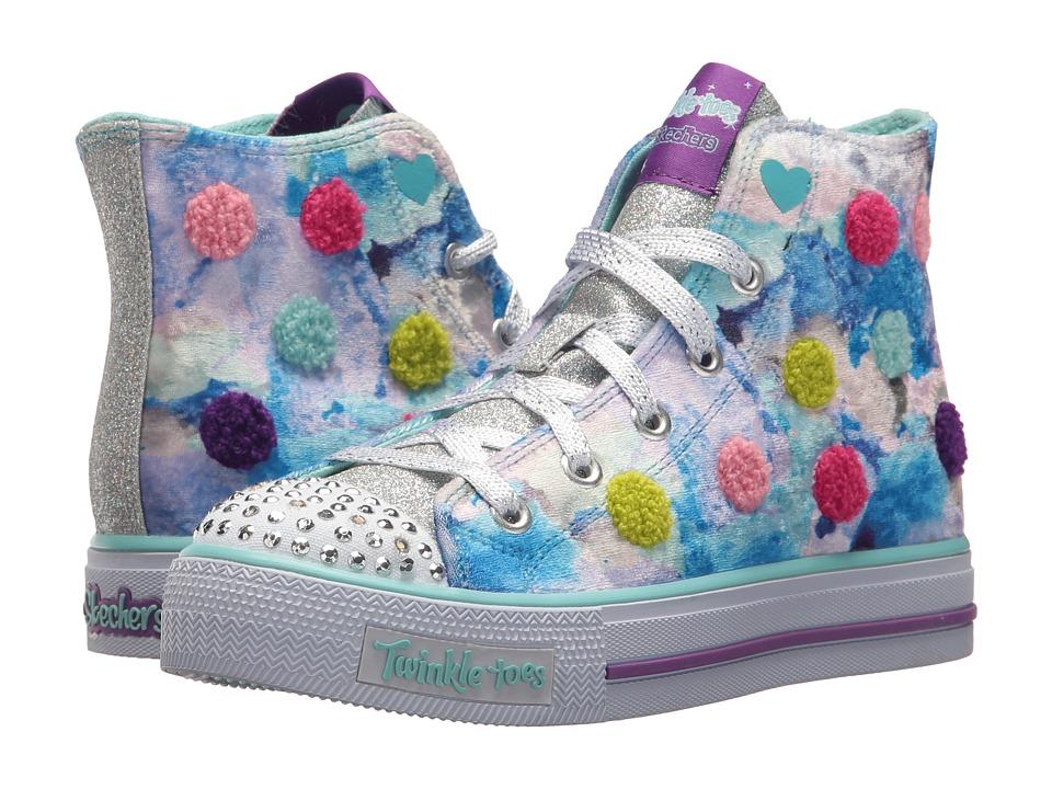 SKECHERS KIDS Twinkle Toes Shuffles 10849L Lights (Little Kid/Big Kid) (Turquoise/Multi) Girl's Shoes