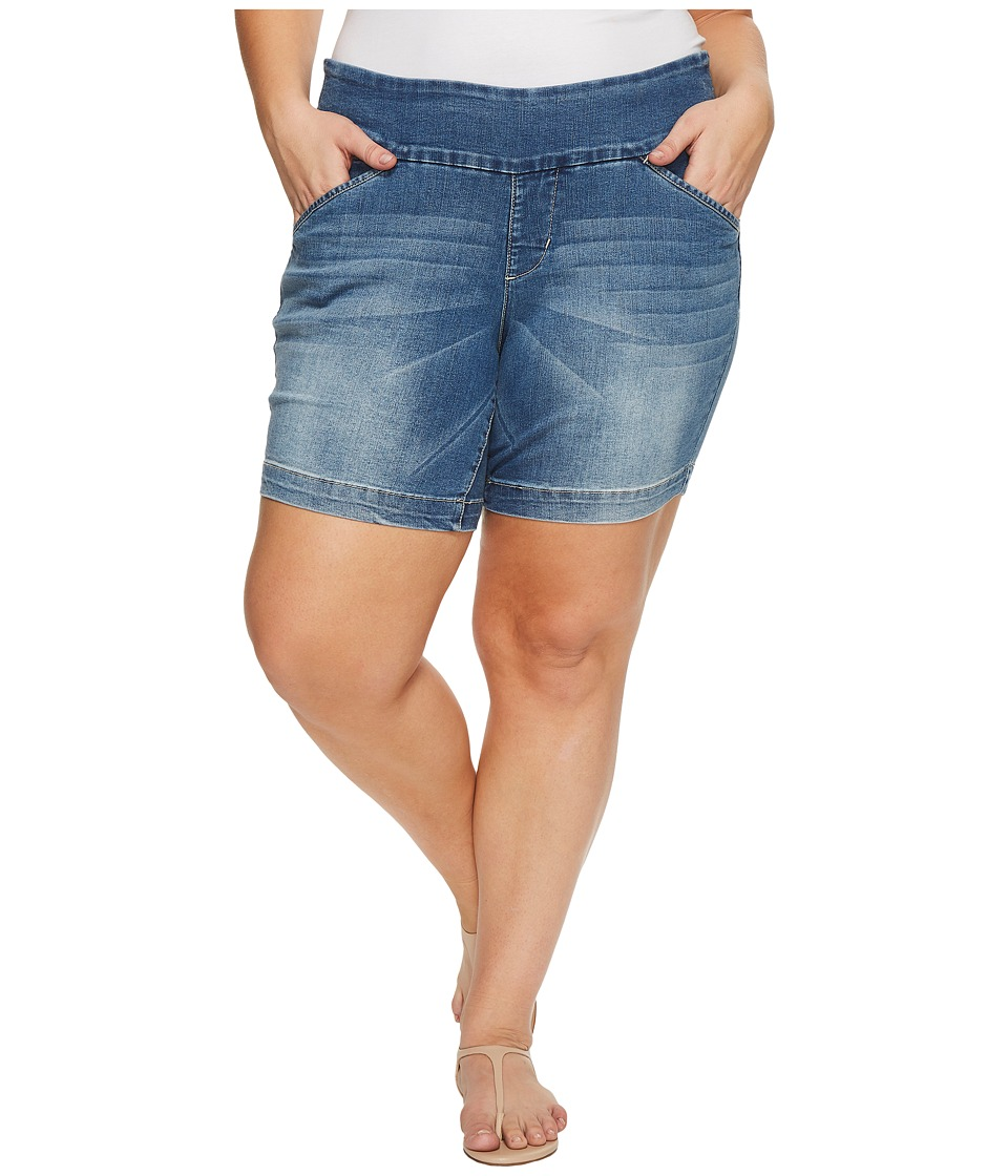 Jag Jeans Plus Size - Plus Size Ainsley Pull-On 8 Butter Denim Shorts in Horizon Blue Denim