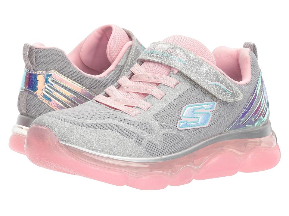 SKECHERS KIDS - Skech Air Radiant 81805L (Little Kid/Big Kid) (Gray/Pink) Girls Shoes