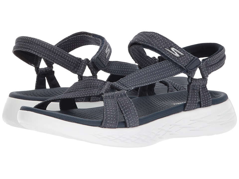 SKECHERS Performance - On-The-Go 600 - Brilliancy (Navy) Women's Sandals