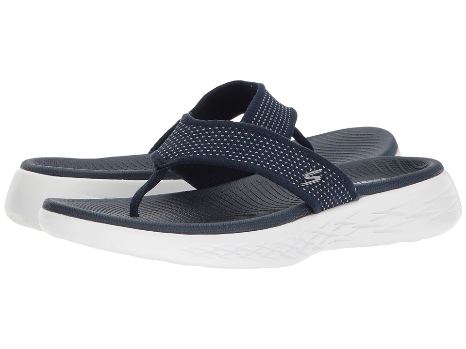 SKECHERS Performance On-The-Go 600 - 15300 (Navy/White) Sandals