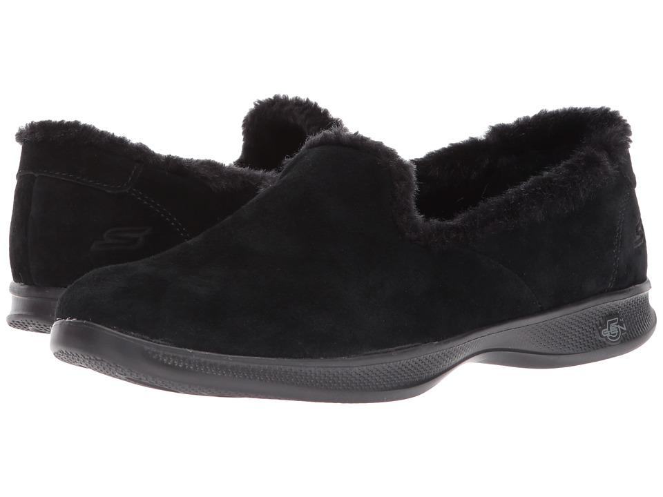 SKECHERS Performance - Go Step Lite - Fuzzies (Black) Womens Flat Shoes