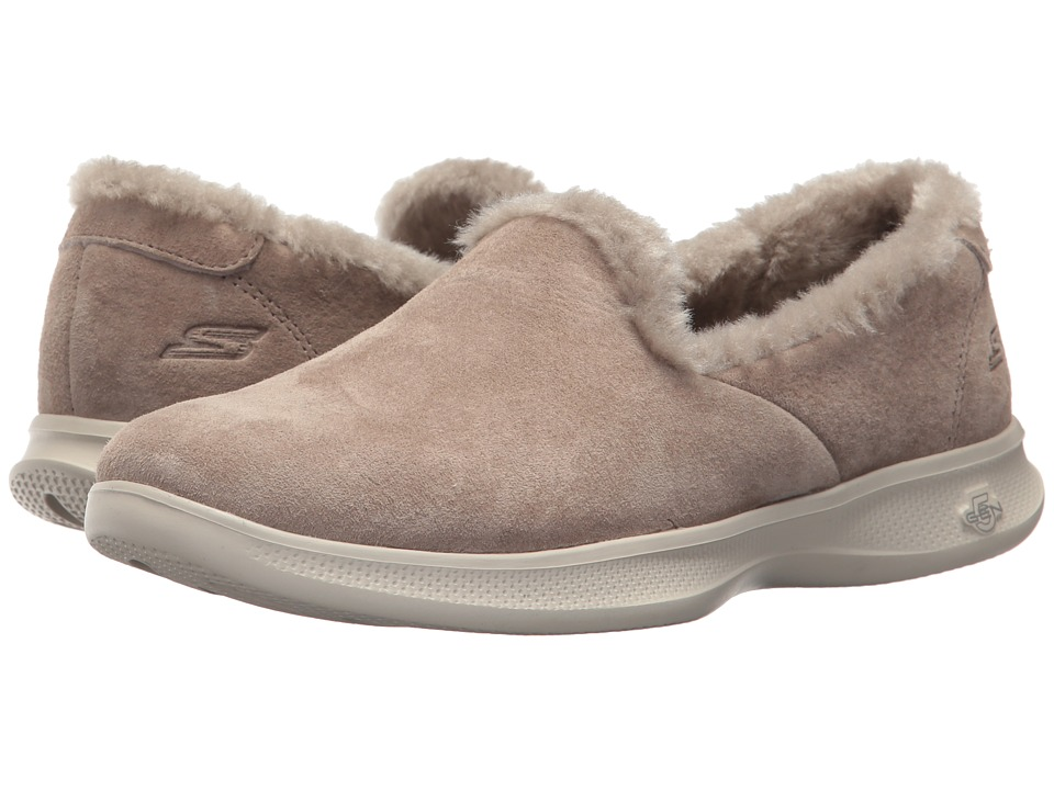 SKECHERS Performance Go Step Lite - Fuzzies (Taupe) Flats