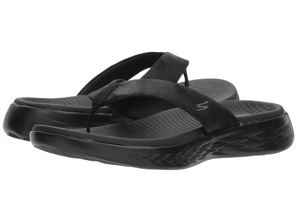 SKECHERS Performance - On-The-Go 600 - Polished (Black) Women's Sandals