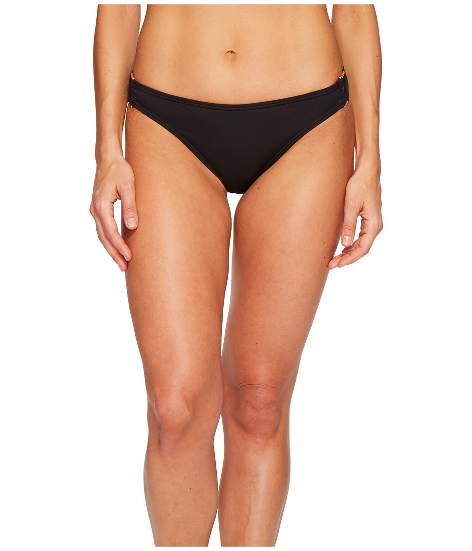 Tommy Bahama Pearl Hipster Bikini Bottom with Rectangle Hardware (Black)