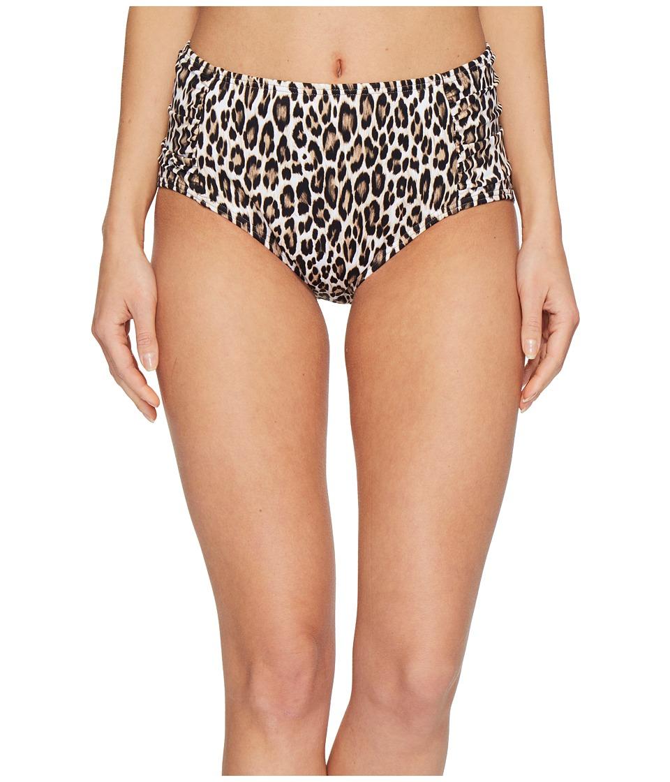 Tommy Bahama Cat's Meow High-Waist Bikini Bottom (Handle Wood)
