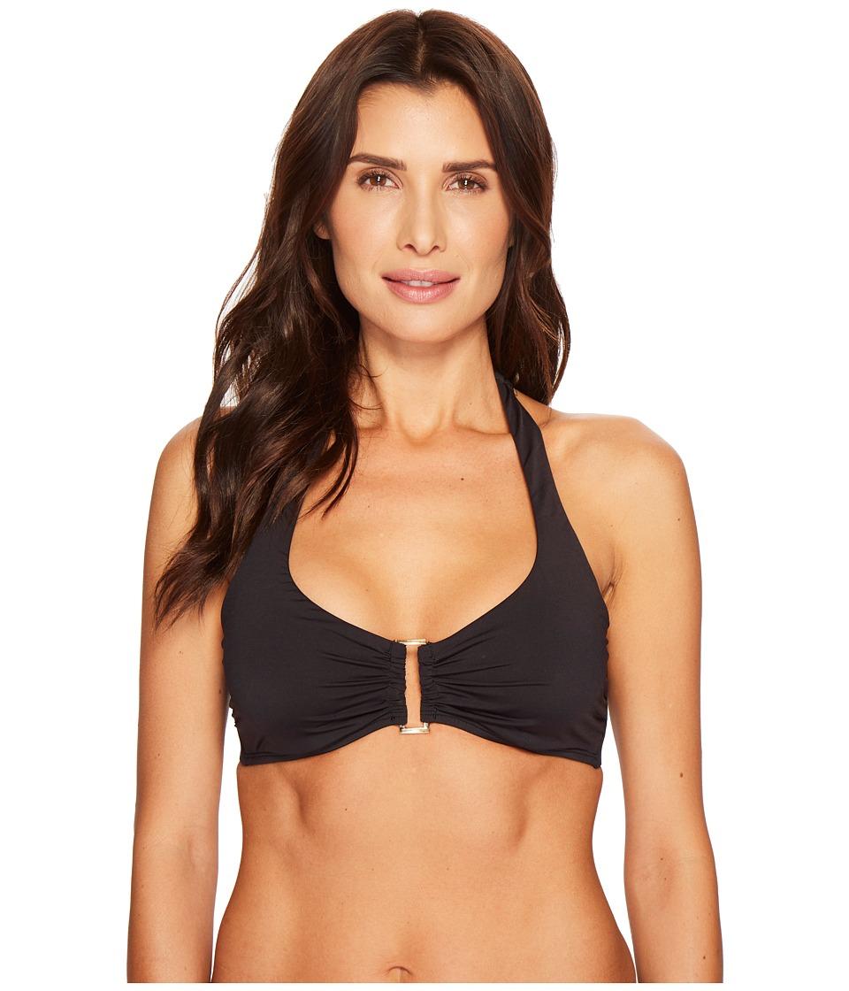 Tommy Bahama Pearl Underwire Halter Bikini Top (Black)