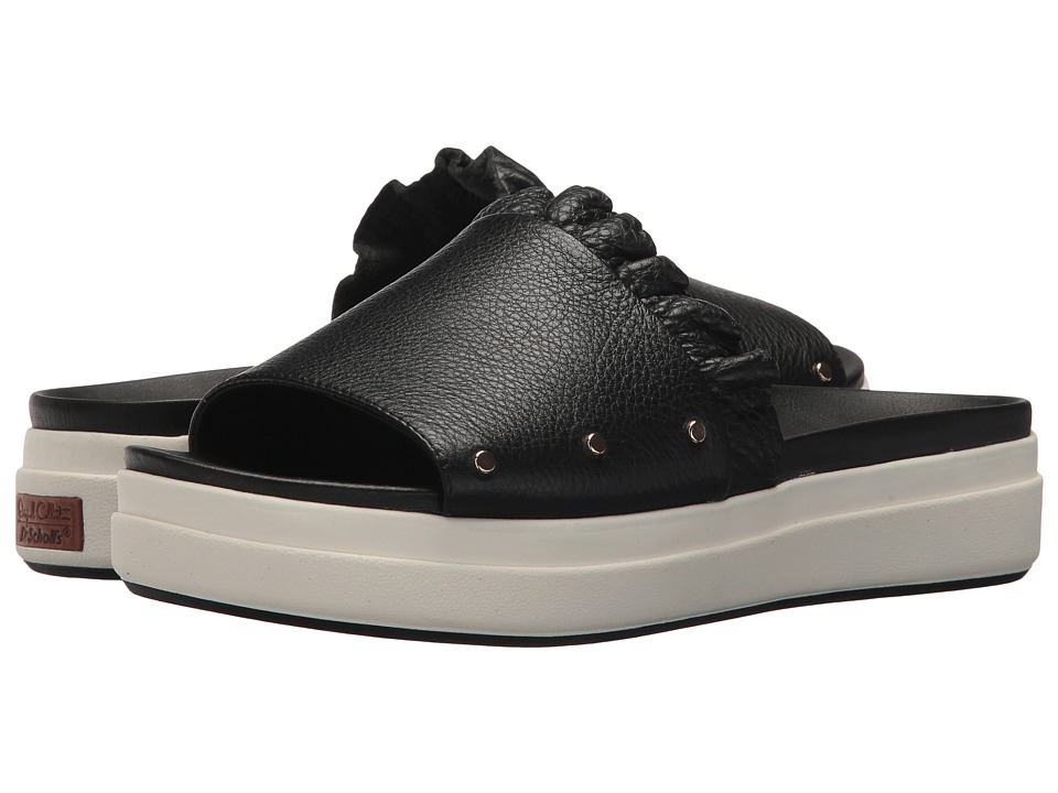 Dr. Scholl's Scout Slide - Original Collection (Black Leather) Women's Shoes