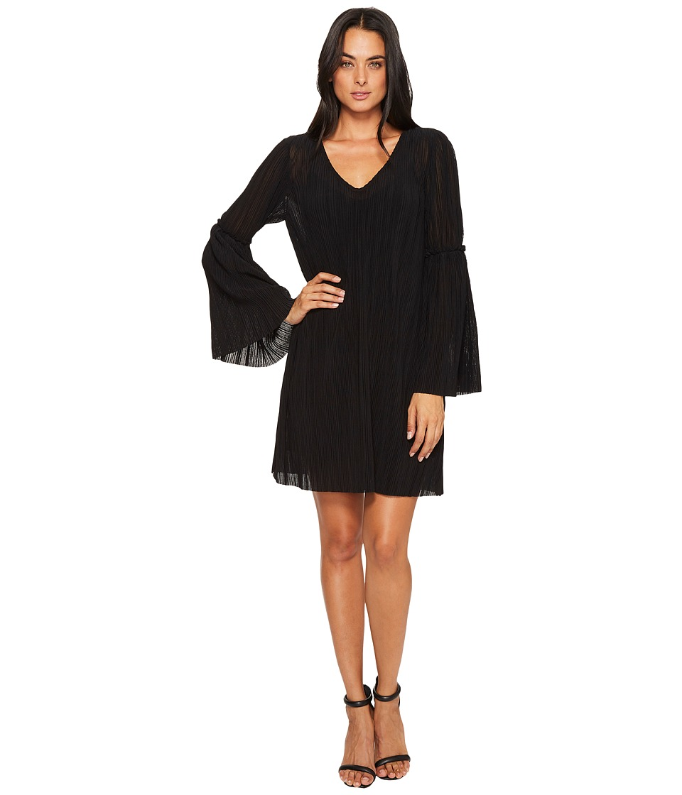 Michael Stars Accordion Bell Sleeve Shift Dress (Black) Women