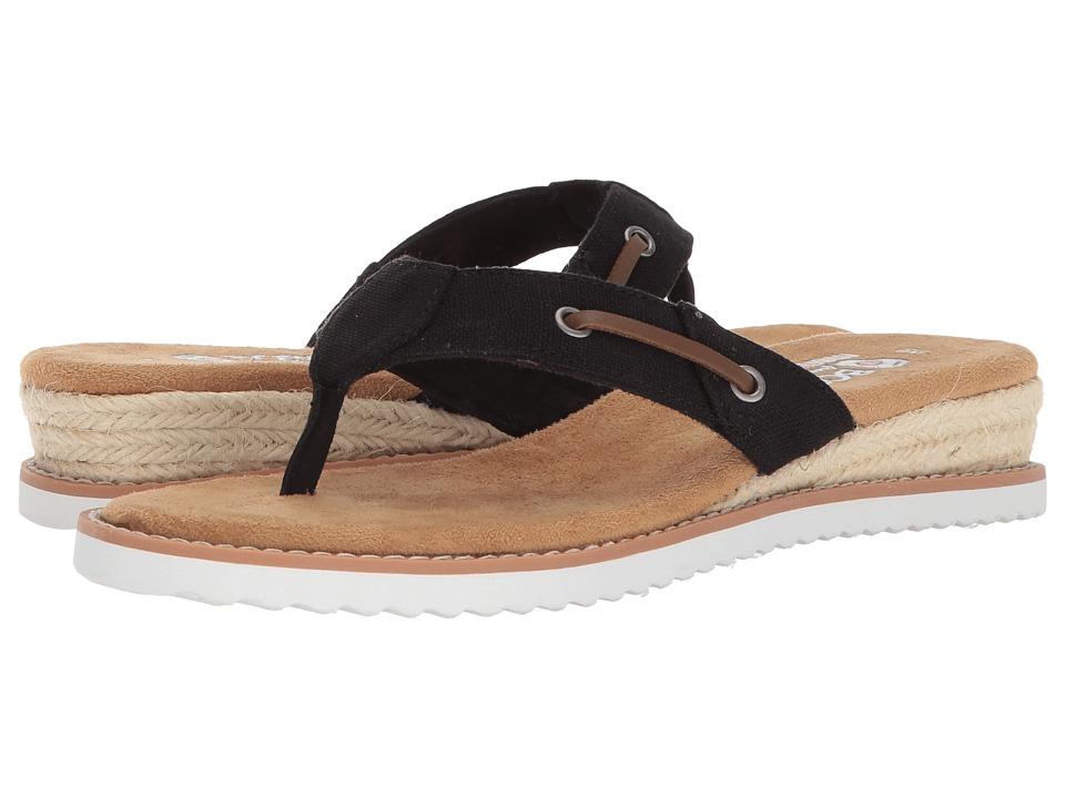 BOBS from SKECHERS Desert Kiss - Off Grid (Black) Sandals