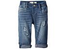 Levi's(r) Kids Rib Waistband Skinny Jeans w/ Destruction (Infant)