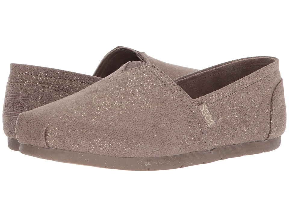 BOBS from SKECHERS Luxe Bobs Caviar And Candy (Taupe) Women